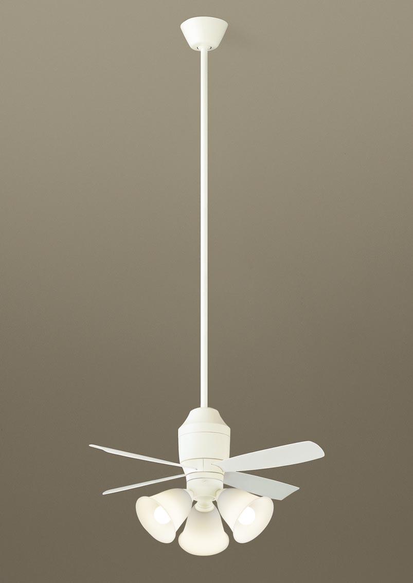 【最安値挑戦中!最大24倍】パナソニック XS75543 シーリングファン 直付吊下型 LED(電球色) 照明器具付 100形電球3灯相当・5W ~8畳 ランプ同梱包 [∽]