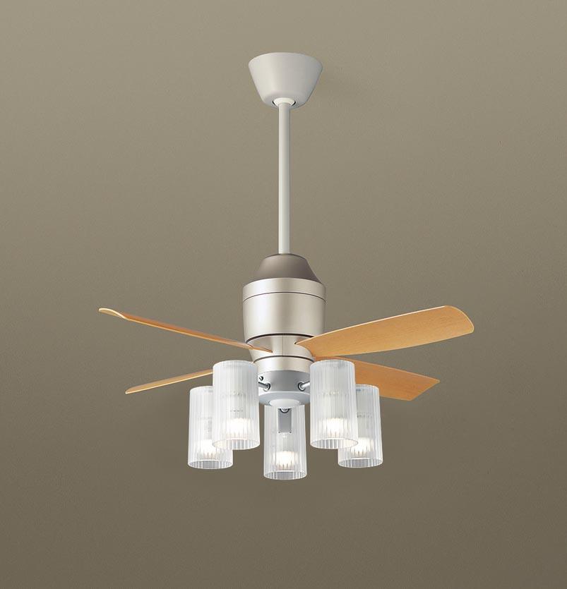 【最安値挑戦中!最大34倍】パナソニック XS77313Z シーリングファン(照明器具付) 直付吊下型 LED(電球色) 5W 60形5灯 ~10畳 パイプ長さ360mm [∽]