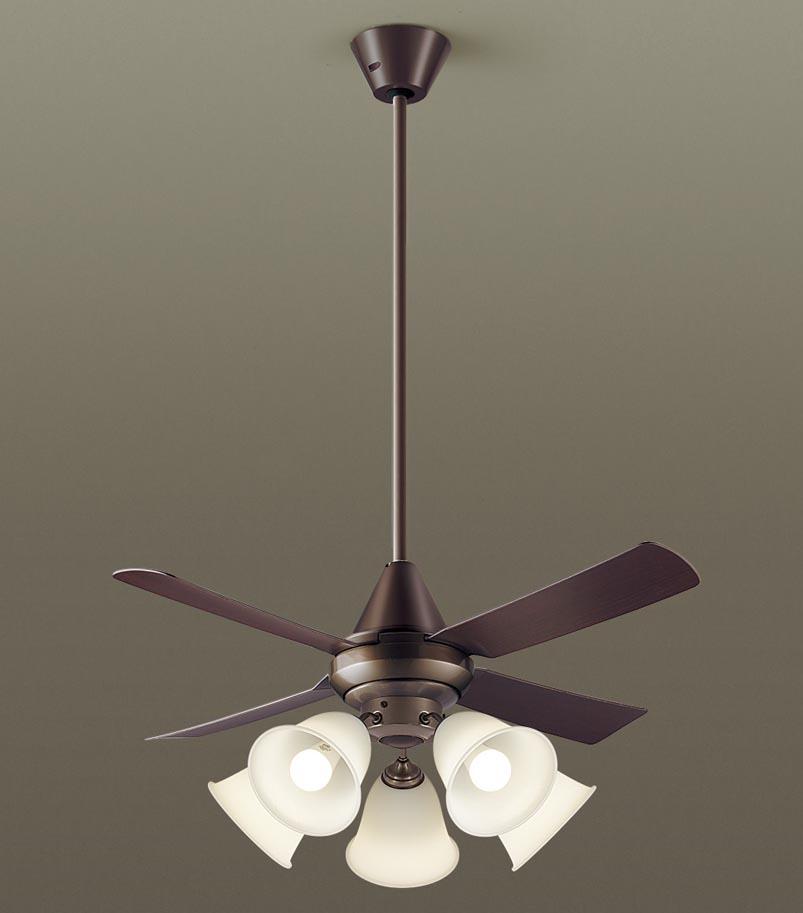 【最安値挑戦中!最大34倍】パナソニック XS92142 シーリングファン 直付吊下型 LED(電球色) 照明器具付 100形電球5灯相当・27W ~14畳 ランプ同梱包 [∽]