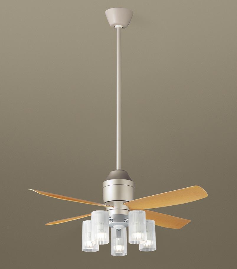 【最安値挑戦中!最大25倍】パナソニック XS72113Z シーリングファン(照明器具付) 直付吊下型 LED(電球色) 12W 60形5灯 ~10畳 パイプ長さ900mm