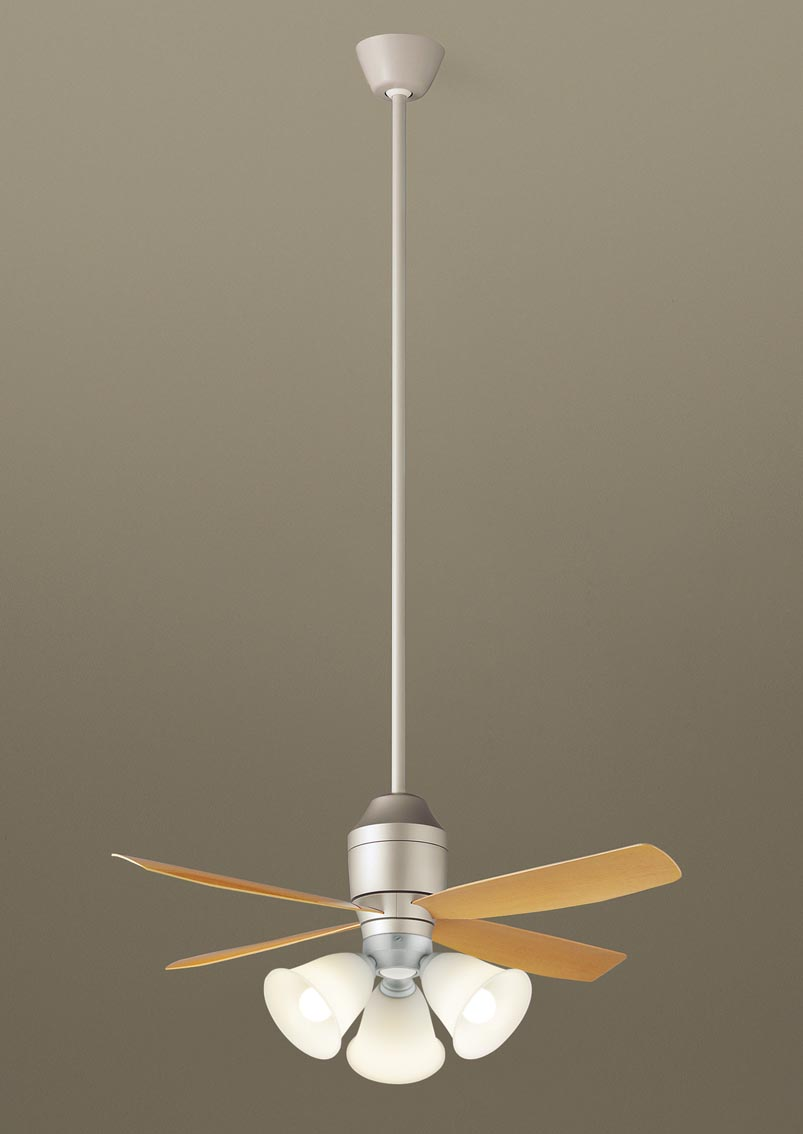 【最安値挑戦中!最大25倍】パナソニック XS72544 シーリングファン 直付吊下型 LED(電球色) 照明器具付 100形電球3灯相当・12W ~8畳 ランプ同梱包