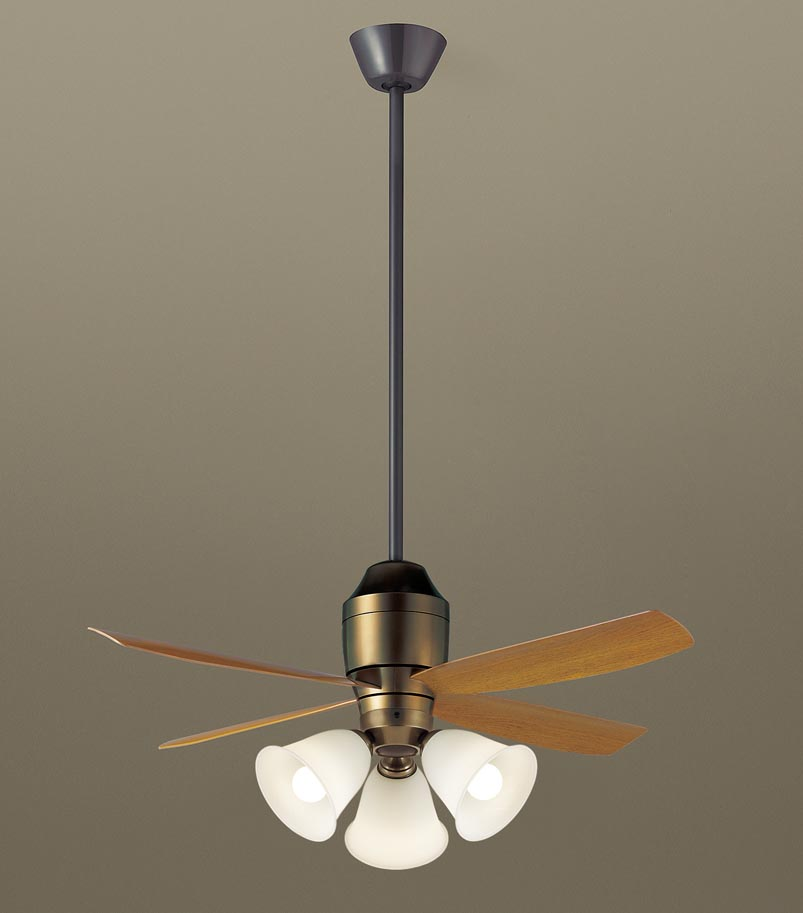 【最安値挑戦中!最大25倍】パナソニック XS73145 シーリングファン 直付吊下型 LED(電球色) 照明器具付 100形電球3灯相当・12W ~8畳 ランプ同梱包