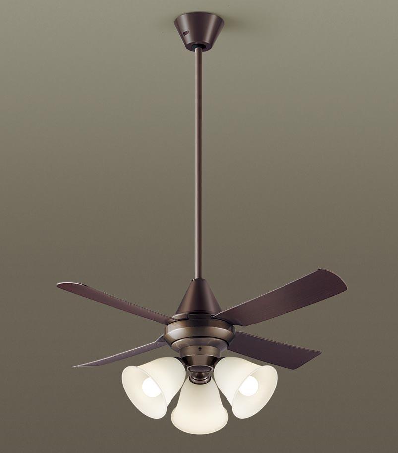 【最安値挑戦中!最大34倍】パナソニック XS92145 シーリングファン 直付吊下型 LED(電球色) 照明器具付 100形電球3灯相当・27W ~8畳 ランプ同梱包 [∽]
