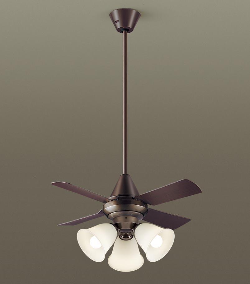 【最安値挑戦中!最大34倍】パナソニック XS97145 シーリングファン 直付吊下型 LED(電球色) 照明器具付 100形電球3灯相当・13W ~8畳 ランプ同梱包 [∽]