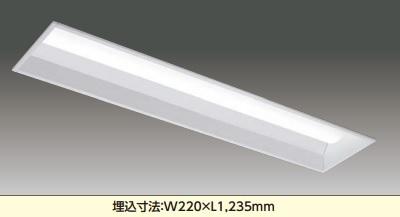 【最安値挑戦中!最大23倍】東芝 LEKR426403N-LS9 ベースライト TENQOO埋込40形W220 下面開放 遮光角20°LED(昼白色) 電源ユニット内蔵 非調光 [∽]