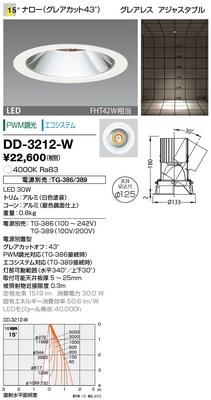 【最安値挑戦中!最大34倍】山田照明(YAMADA) DD-3212-W ダウンライト LED一体型 PWM調光 白色 配光15° 電源別売 [∽]