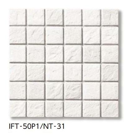 【最安値挑戦中!最大34倍】LIXIL 【IFT-50P1-NT-31 20シート/ケース】 サーモタイル ナチュラル 50mm角紙張り(浴室床タイプ) [♪]