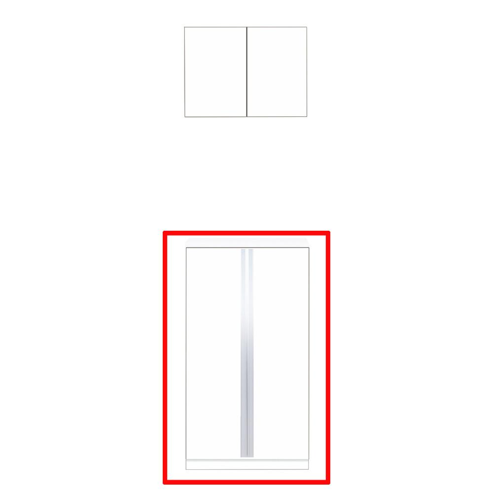 【最安値挑戦中!最大25倍】マイセット S5-60F プラスワン S5 玄関収納 2点組合せタイプ フロアユニットのみ 間口60cm 奥行35.8cm [♪▲]