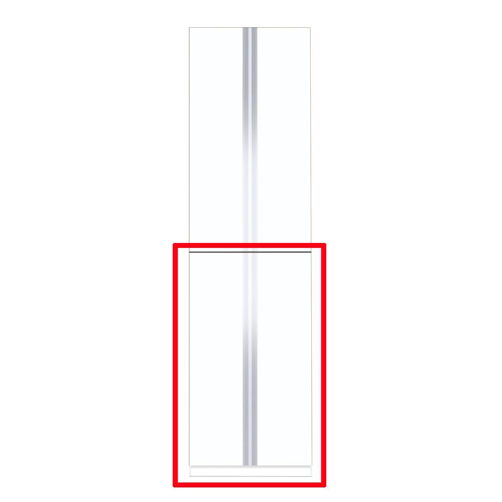 【まいどDIY】マイセット Y3-60FT ベーシック Y3 玄関収納 トールユニット 下台のみ 高さ220cmタイプ 間口60cm 奥行35.8cm [♪▲]