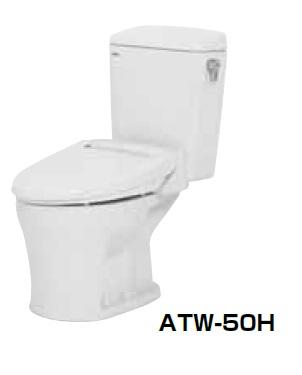 【最安値挑戦中!最大25倍】簡易水洗便器 ネポン ATW-50H プリティーナ エロンゲート 暖房便座 手洗栓なし ホワイト [♪■] 【関東限定】