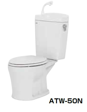 【最安値挑戦中!最大24倍】簡易水洗便器 ネポン ATW-50N プリティーナ エロンゲート 普通便座 手洗栓付 ホワイト [♪■] 【関東限定】
