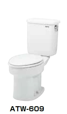 【最安値挑戦中!最大25倍】簡易水洗便器 ネポン ATW-609C プリティーナ レギュラーサイズ 普通便座 手洗栓なし オートフラッパー方式 ホワイト 寒冷地向 [♪■] 【関東限定】