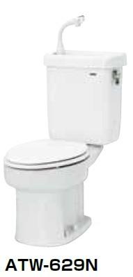 【最安値挑戦中!最大34倍】簡易水洗便器 ネポン ATW-629CN プリティーナ レギュラーサイズ 普通便座 手洗栓付 オートフラッパー方式 ホワイト 寒冷地向 [♪■] 【関東限定】