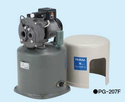 【最安値挑戦中!最大23倍】深井戸用圧力タンク式ポンプ(50Hz) テラル PG-207F-5 単相100V 200W 自動式 ジェット付属