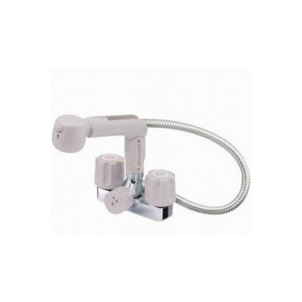 【最安値挑戦中!最大25倍】水栓金具 三栄水栓 K3104K-LH-13 寒冷地 ツーバルブスプレー混合栓(洗髪用) [□]