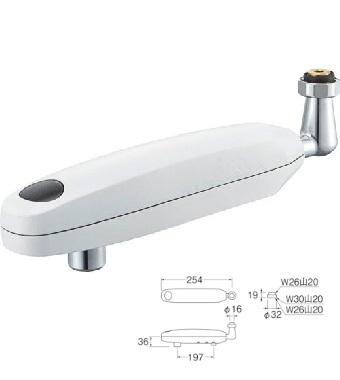 【最安値挑戦中!最大25倍】水栓金具 三栄水栓 EA100-60X-16 自動水栓パイプ 下向き [□]