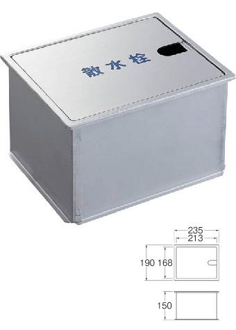 【最安値挑戦中!最大25倍】ガーデニング 三栄水栓 R8121 散水栓ボックス(床面用) [□]
