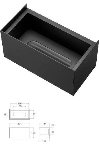 【最安値挑戦中!最大23倍】洗面所 三栄水栓 W239-2 ティッシュボックス棚 洗面所用 [□]