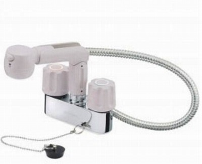 【最安値挑戦中!最大34倍】水栓金具 三栄水栓 K31VR-LH-13 ツーバルブスプレー混合栓(洗髪用) [□]