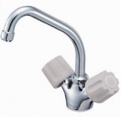 【最安値挑戦中!最大34倍】水栓金具 三栄水栓 K811V-LH-13 ツーバルブワンホール混合栓 [□]