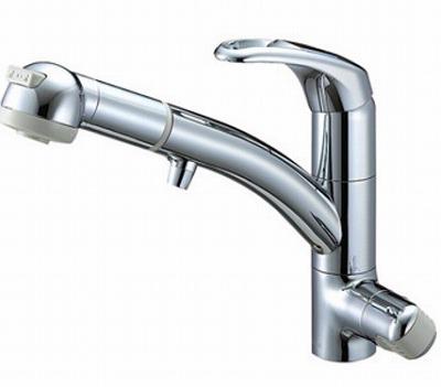 【最安値挑戦中!最大23倍】水栓金具 三栄水栓 K8767JV2-7S-C-13 シングルワンホールスプレー混合栓(浄水器兼用) [□]