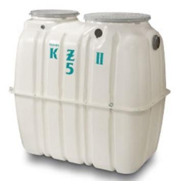 【最大44倍スーパーセール】クボタ KZII-5(D) 小型浄化槽 5人槽 コンパクト高度処理型 放流ポンプ槽付[◇♪]