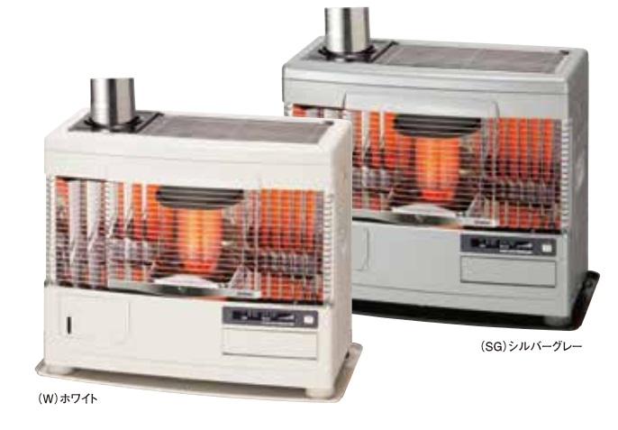 【最安値挑戦中!最大34倍】サンポット 石油暖房機 UFH-7731UKC Q(W) 床暖内蔵 煙突式 カベック ホワイト [♪■]