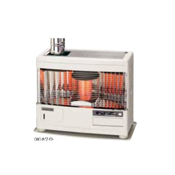 【最安値挑戦中!最大34倍】サンポット 石油暖房機 UFH-7711URC R(W) 床暖内蔵 煙突式 カベック ホワイト [♪■]