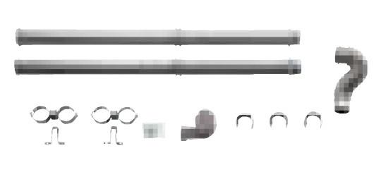 【最安値挑戦中!最大34倍】サンポット 石油暖房機 関連部材 FR-10S4 FF暖房機・給排気管延長セット 延長セット(ステンレス管使用)[♪■]