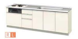 【最安値挑戦中!最大24倍】サンウェーブ GXI-U-250SNA GXシリーズ フロアユニット ラウンド68シンク 間口250cm ホワイトゼブラ [♪凹§]
