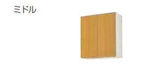【最大44倍スーパーセール】サンウェーブ GKF-AM-60ZN GKシリーズ 吊戸棚(高さ70cm) 間口60cm アイボリー [♪凹§]