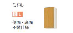 【最安値挑戦中!最大23倍】サンウェーブ GKW-AM-35ZF GKシリーズ 吊戸棚(高さ70cm) 間口35cm ライトオーク [♪凹§]