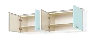 サンウェーブ GPB2A-180 セクショナルキッチン GP2シリーズ 吊戸棚(高さ50cm) 間口180cm ベビーブルー [♪凹]