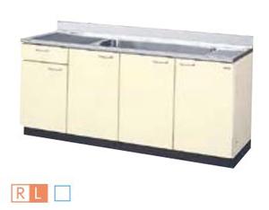 サンウェーブ HRH2S-180JB(R・L) セクショナルキッチン HR2シリーズ 流し台(1段引出し) ジャンボシンク 間口180cm シェルグレー [♪凹]