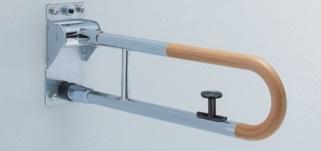 【最安値挑戦中!最大25倍】トイレ用手すり TOTO T114HK8R 腰掛便器用 可動式 はね上げタイプ ロック付き 長さ:800mm [■]