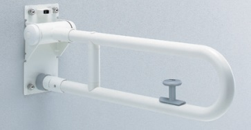 【最安値挑戦中!最大34倍】トイレ用手すり TOTO T112HK7R 腰掛便器用 可動式 はね上げタイプ ロック付き 長さ:700mm [■]