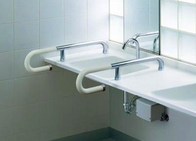 【最安値挑戦中!最大35倍】トイレ用手すり TOTO T114CP5R 人工大理石カウンター用 [■]