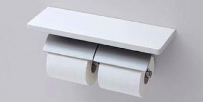 【最安値挑戦中!最大34倍】トイレ関連 TOTO YH63KM 棚付二連紙巻器 マットタイプ 芯棒固定タイプ メタル製(棚 天然木製) [■]