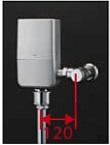 【最安値挑戦中!最大25倍】TOTO TEVN20U 大便器便器自動洗浄システム オートクリーンC(露出タイプ) 壁給水 再生水仕様 受注生産品 [■§]