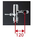 【最安値挑戦中!最大34倍】TOTO TV550R 節水形フラッシュバルブ 標準洗浄水量8L以上の大便器・汚物流し用 低水圧用 標準品[■]