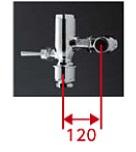 【最安値挑戦中!最大25倍】TOTO TV650R 節水形フラッシュバルブ 標準洗浄水量8L以上の大便器・汚物流し用 低水圧用 再生水仕様[■]