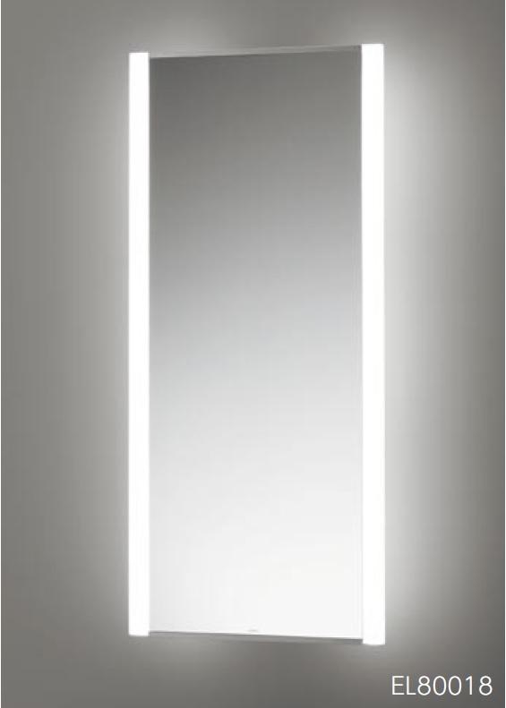 【最安値挑戦中!最大24倍】洗面所ゾーン TOTO EL80019 LED照明付鏡 奥行150mm 鏡寸法385mm[♪■]
