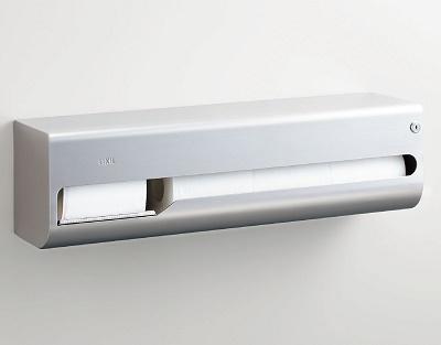 【最安値挑戦中!最大23倍】紙巻器 INAX KF-67T4L 横4連ストック付(左仕様) [□]