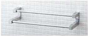 【最安値挑戦中!最大23倍】タオルハンガー INAX FKF-12WF/C TFシリーズ 2段式タオル掛 600mm [□]