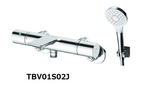 【最安値挑戦中!最大25倍】TOTO TBV01S02J 壁付サーモスタット混合水栓(コンフォートウエーブ) [■]