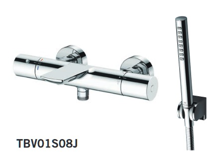 【最大44倍スーパーセール】TOTO TBV01S08J 壁付サーモスタット混合水栓(コンフォートウエーブ) [■]