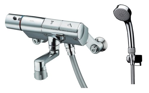 【最安値挑戦中!最大24倍】水栓金具 TOTO 浴室シャワー水栓 壁付きタイプ TMN40STE3 サーモスタットシャワー金具 タッチスイッチ [■]