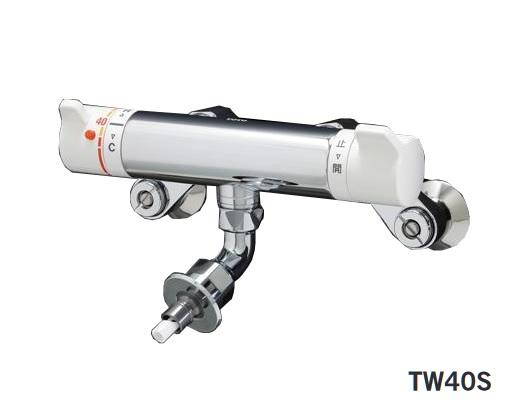 【最安値挑戦中!最大25倍】水栓金具 TOTO TW40S 緊急止水弁付サーモスタット混合栓「ピタットくん」露出型 [■]