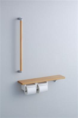 【最安値挑戦中!最大34倍】トイレ関連 TOTO YHB61FLC 紙巻器一体型 手すり・棚別体タイプ R/L兼用 握り径 φ32mm [■]