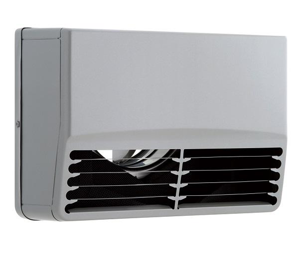【まいどDIY】換気扇 ユニックス SSCG150B5MDSP ステンレス製 グリル 外風対策(防音) 角型防音カバー 横ガラリ 防火ダンパー 72℃型式 5メッシュ [♪■]